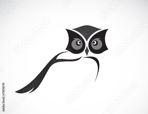 Poster Uilen cartoon Vector image of an owl design on white background