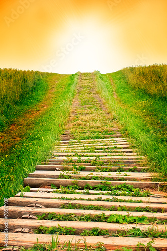 Photo Stands Stairs Stairway to sky