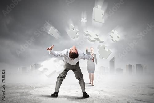 Fototapeten Tanzschule Business conflict