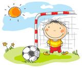 Football in den Sonnenstrahlen
