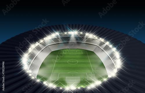 Aluminium Prints Stadion Soccer Stadium Night