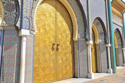 Papiers peints Maroc Details of Royal palace, Fes