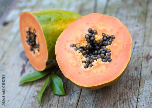 Keuken foto achterwand Vruchten papaya fruit