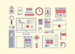 Modern design flat icon vector collection concept in stylish