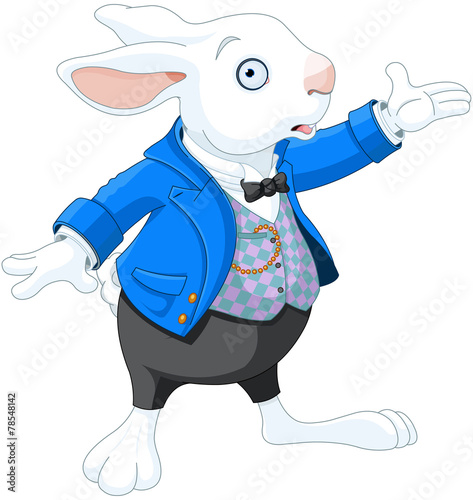 Printed kitchen splashbacks Fairytale World White Rabbit
