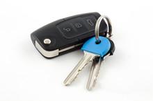 Car Key Fob With House Keys