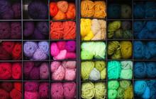 Vibrant Colorful Yarn