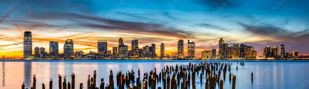 Fototapety, obrazy: Jersey City panorama at sunset