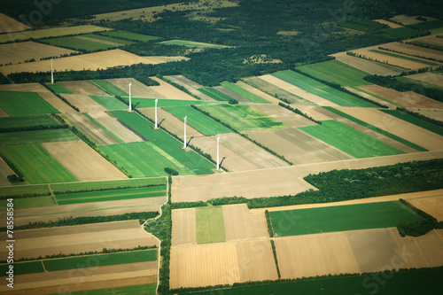 Wall Murals Air photo Aierial view from the plane