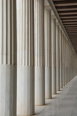 Colonnade in stoa of Attalos