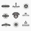 Tequila Retro Vintage Labels Hipster Logo design vector