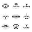 Beer Retro Vintage Labels Hipster Logo design vector typography