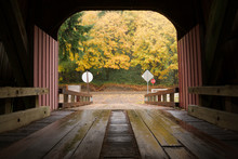 Inside Covered Bridge Fall Col...