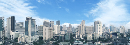 Bangkok business center panorama view