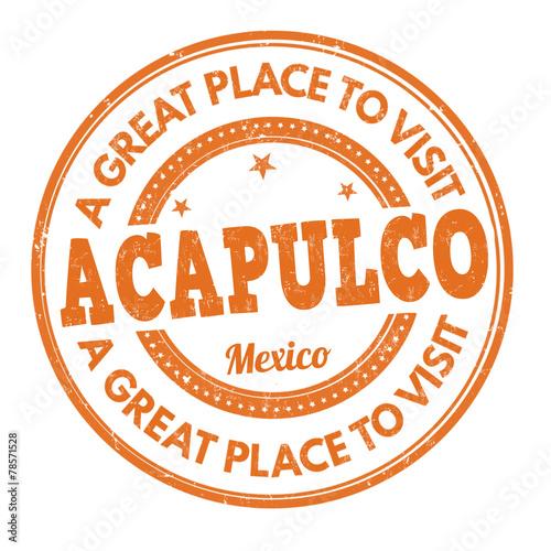 Fotografering  Acapulco stamp