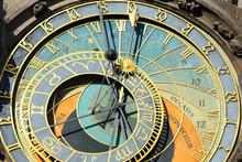 DetDetail Of  Historical Medieval Astronomical Clock In Prague