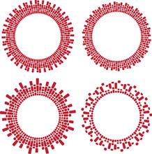 Set Of 4 Round Frames.