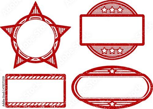 Set Of 4 Rubber Stamps Templates