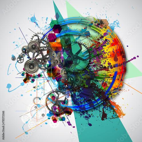 Plakat abstrakcyjna okładka