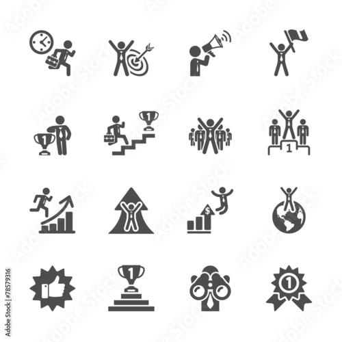 Fototapeta business success icon set, vector eps10 obraz na płótnie