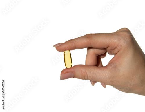 Fotografie, Obraz  hold fish oil