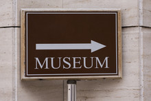 Museum Direction Sign