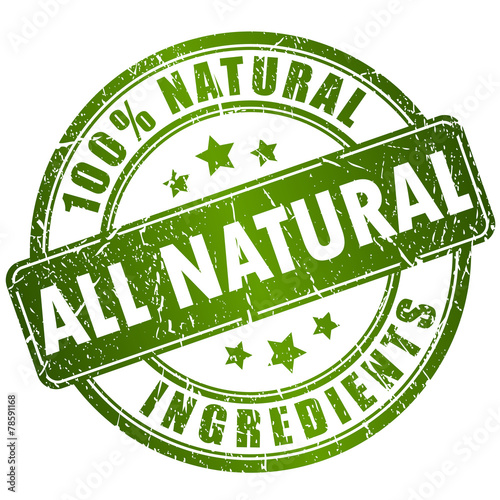 Fotografía  All natural ingredients stamp