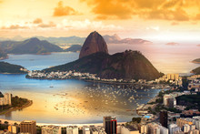 Rio De Janeiro, Brazil In Twil...