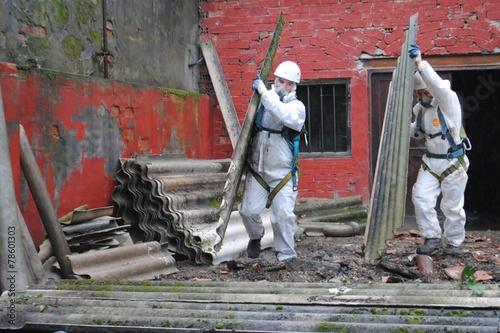 Fotografie, Obraz Trabajadores de amianto