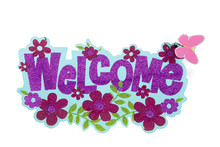Glitter Welcome Sign