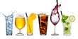 canvas print picture - row of various beverages