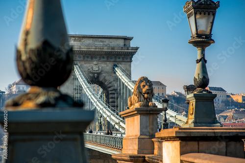 Szechenyi Chain Bridge Fototapet