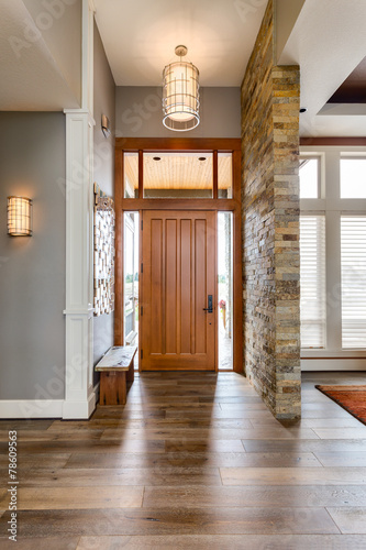 Fotografie, Tablou  Elegant front door with welcome mat