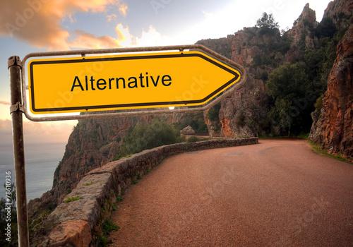 Fotografie, Obraz  Strassenschild 36 - Alternative