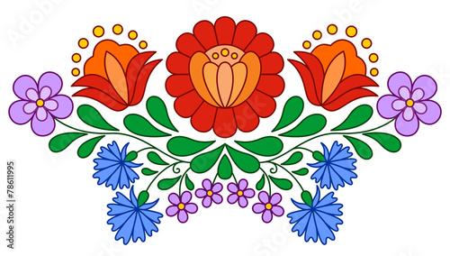 Fotografija  Traditional Hungarian folk embroidery pattern