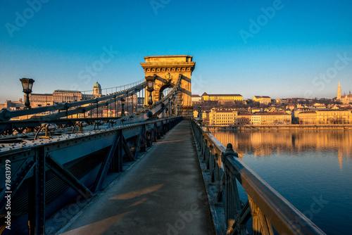 Fotografie, Tablou Szechenyi Chain Bridge