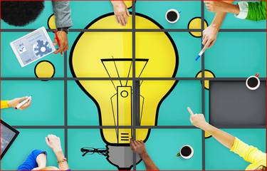 Pomysły Puzzle Rozwiązywanie problemów Inspiracja Koncepcja kreatywności