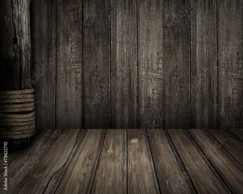 Old wooden scene as pirates theme background