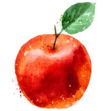 Apple Logo Design Template. Fruit Or Food Icon.