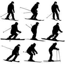 Mountain Skier   Men And Woman...