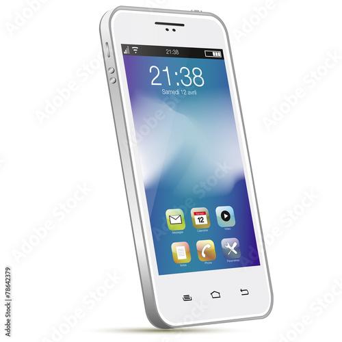 Foto  Smartphone blanc
