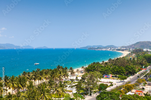 Fototapety, obrazy: Aerial view over Nha Trang city, Vietnam