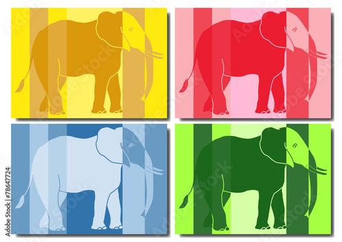 Cuadros en Lienzo Eléphant pop