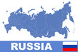 Russia world map
