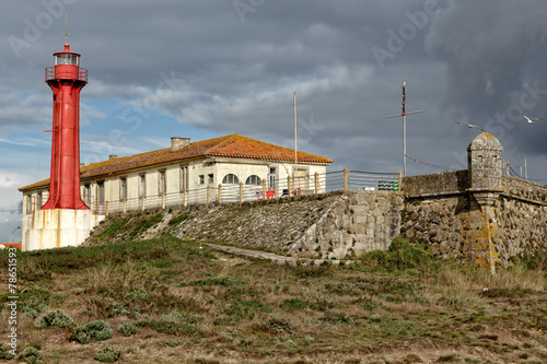 Fotografie, Obraz  Fortress and lighthouse of Esposende