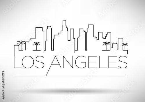 Photo  Los Angeles City Line Silhouette Typographic Design