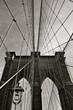 Brooklyn Bridge in the winter, New York City, USA.