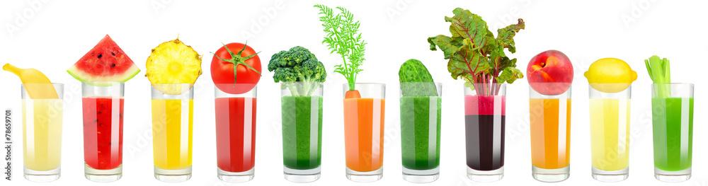 Fototapeta vegetable and fruit juice