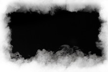 Smoke Cloud Frame, Isolated On...
