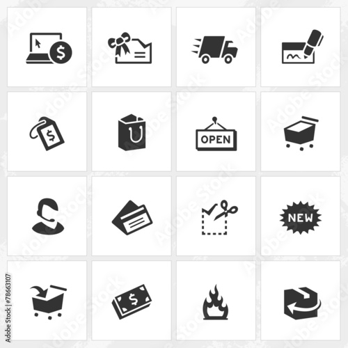 Fotografering  Shopping Icons